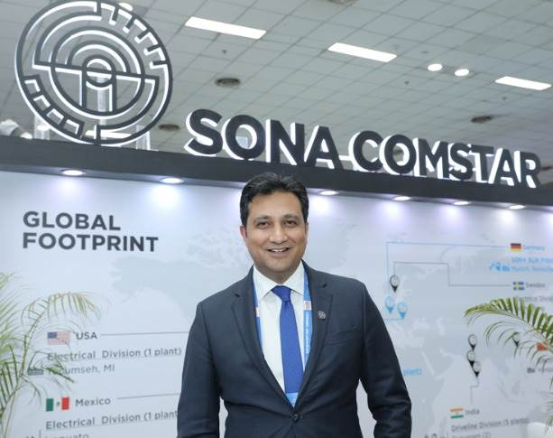 "Vivek Vikram Singh, MD and Group CEO, Sona Comstar: ""In India, CVs is our major segment in terms of bevel gears. We supply to Tata Motors, Ashok Leyland and VECV, and have around 97 percent of the market share."""