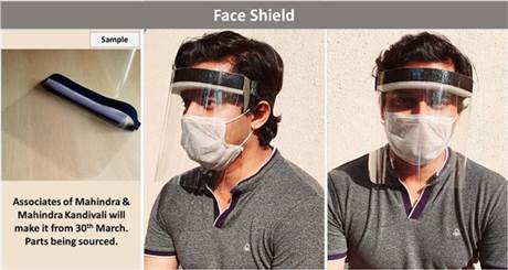 Mahindra to manufacture Ford-designed face shield