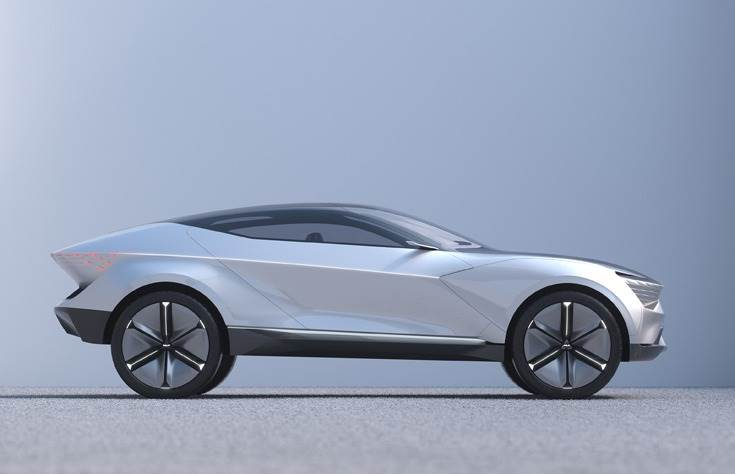 "The concept's roof is a diamond-shaped panoramic glasshouse, and according to Kia is ""in the best traditions of UFO and flying saucer design."""