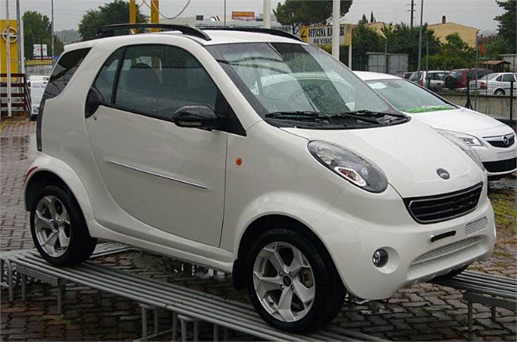 The Shuanghuan Auto Noble, unlike the Smart Fortwo, is a four-seater...