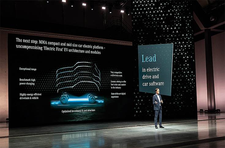 "Markus Schafer, Member of the Board of Management of Daimler AG and Mercedes-Benz AG: ""At Mercedes-Benz, we strive for nothing less than taking the lead in electric drive and car software. We will do this with an intelligent electric platform strategy and a proprietary software development approach."""