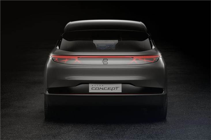 The rear of the Byton Concept
