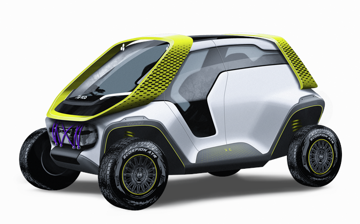 Tracy, the new concept vehicle created by the students of IED Turin