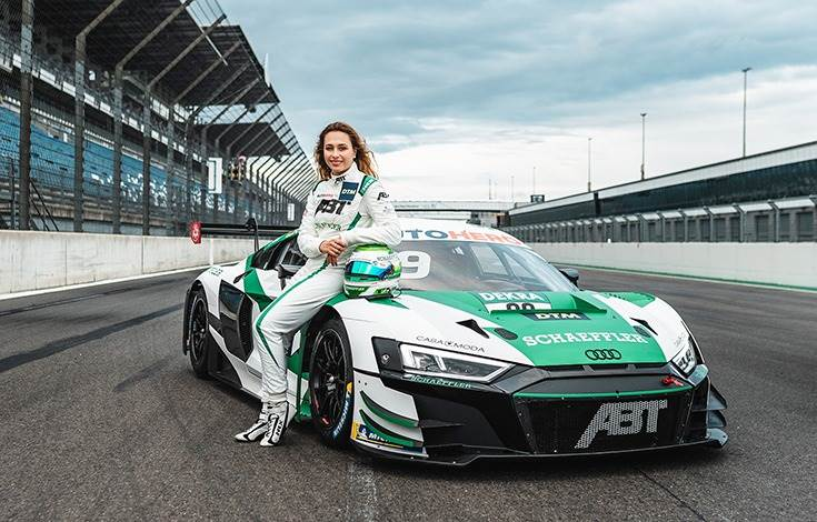 Sophia Florsch is a Schaeffler brand ambassador and is gunning for points in an Audi R8 LMS GT3 with Space Drive.