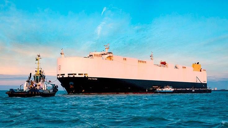 In future, the 180-metre-long ships (now powered by a 19,000 PS (14,220 kW) MAN marine diesel engine, will be refuelled at sea with alternative fuel supplied by Dutch company GoodFuels.