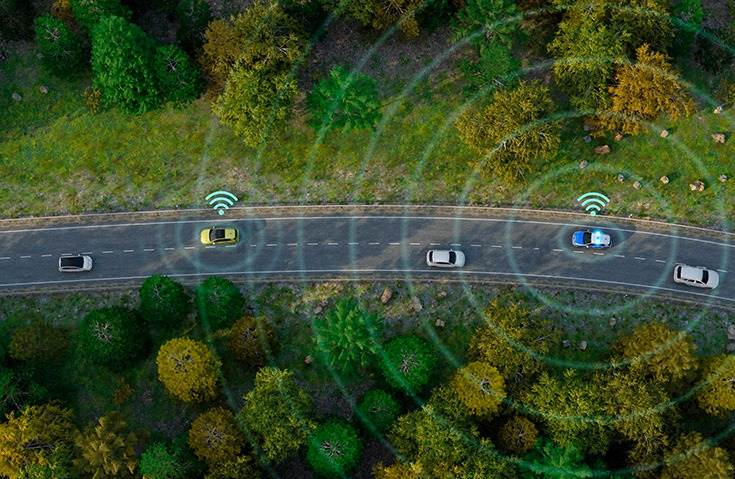 Volkswagen Local Hazard Warning is a system that uses short-range communication between cars, and between a car and its surroundings, to give drivers early warning of safety hazards.
