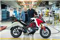 Claudio Domenicali, CEO of Ducati, handing over the 100,000th Multistrada to Dave Hayward from Dusseldorf..jpg