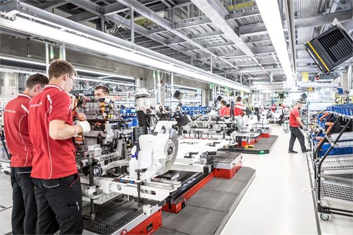 A look inside the axis assembly at Porsche