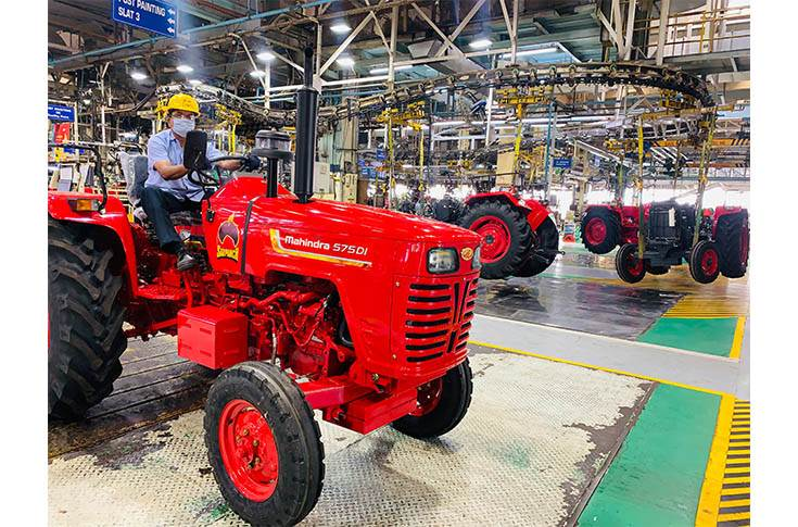 In July, M&M clocked a record 28 percent year-on-year growth in tractor sales.