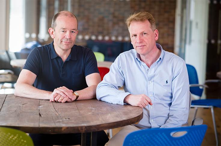 Graphcore Founders Nigel Toon CEO (right) and Simon Knowles CTO (left)