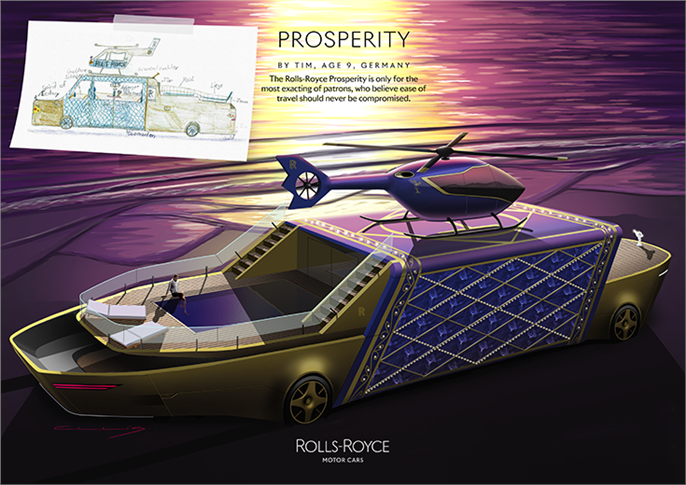 Rolls-Royce Prosperity by Tim, age 9, Germany.