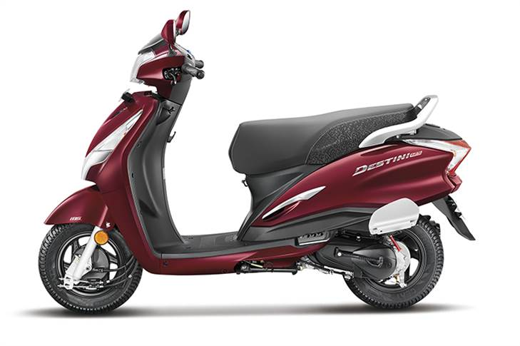 At 54,650 (ex-showroom Delhi), the Hero Destini 125 is the most affordable of all 125cc scooters in India.