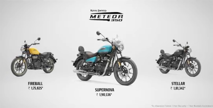 The Meteor replaces the existing Thunderbird brand (Thunderbird and Thunderbird X) and will beavailable in three new variants – Fireball, Stellar, and Supernova.