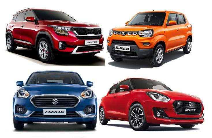 Kia Seltos, the No. 1 UV in October with sales of 12,786 units, debuts in the Top 10 PVs list as does the Maruti S-Presso with 10,634 units. At  the top, Dzire and Swift separated by just 168 units.