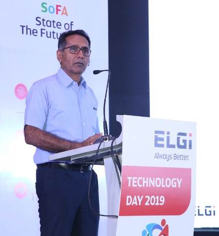 """Dr Jairam Varadaraj, MD, Elgi Equipments: """"Global climate change is an alarming reality and we're striving to make a difference by ensuring organisations reduce both energy dependence and emissions, resulting in minimal impact to the environment."""""""