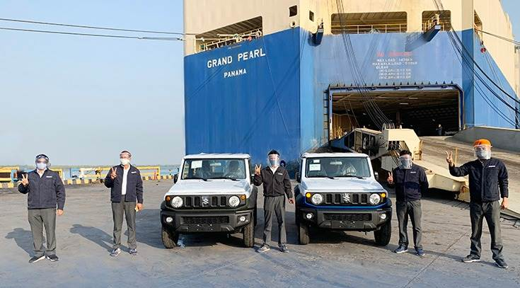he first shipment of 184 units of the made-in-India Jimny has left from Mundra port bound for Colombia and Peru.