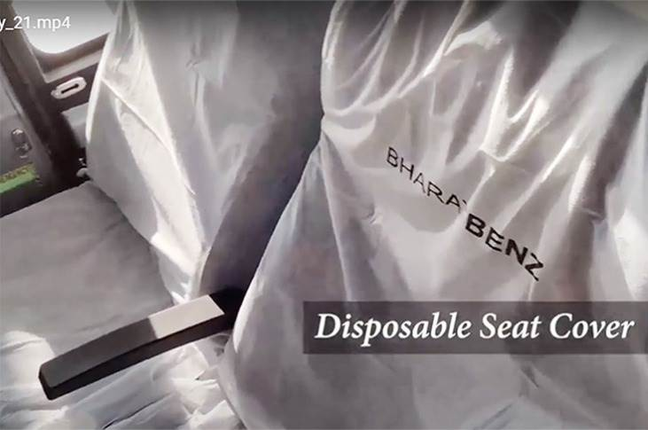 Two seat cover options: an infection-proof cover that retains its anti-virus and anti-bacterial protection for up to 20 washes and an easy-to-use disposable cover