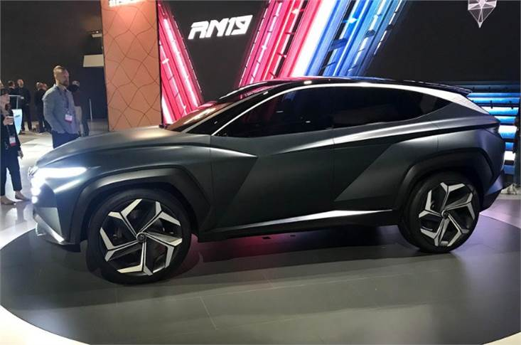 The machine is the seventh in a series of concept cars developed by Hyundai's Design Centre