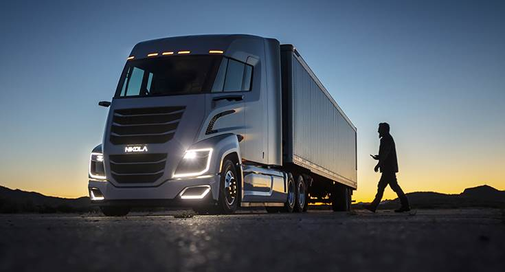 Nikola Two. There are currently more than 13,000 Nikola trucks on order. The Nikola trucks feature up to 1,000 horsepower and 2,000 ft-lbs of torque.
