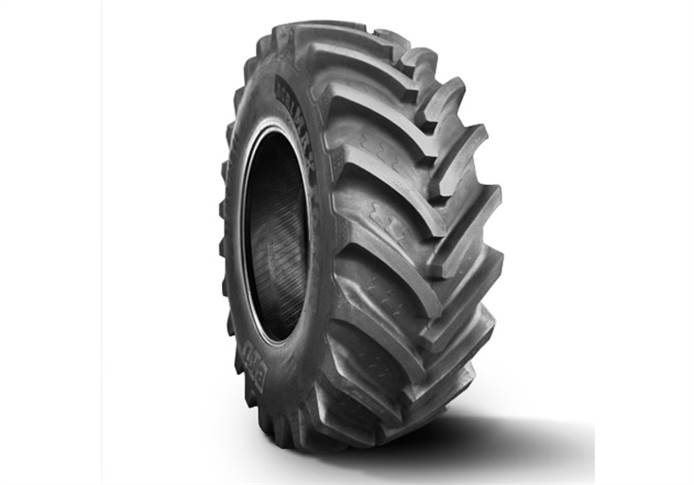 Agrimax Force IF 750/75 R 46, with a diameter of 2.30 metres, is the biggest radial agriculture tyre BKT has ever produced.