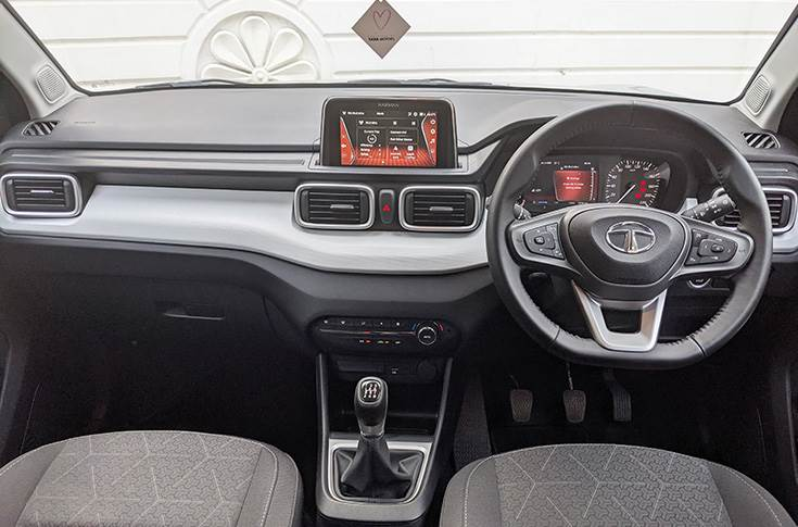 Layered dashboard with good use of textures and colours to offer a pleasing experience inside the Punch