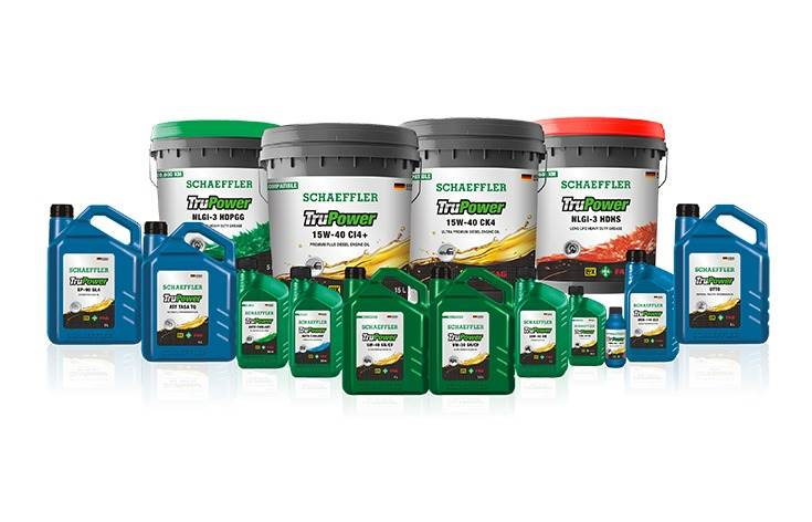 Schaeffler TruPower lubricants range includes engine oil, transmission fluids, grease, hydraulic oil and shock absorber oil for the automotive and industrial segments.
