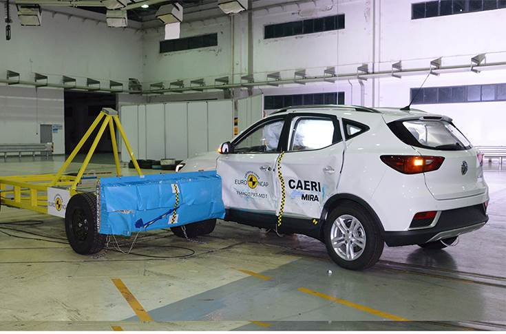 Side crash test 2019 - after crash
