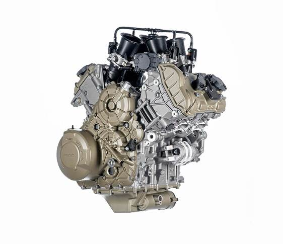 The new V4 Granturismo, Euro 5-compliant engine develops 170hp at 10,500rpm and a maximum torque of 125 Nm at 8,750rpm.