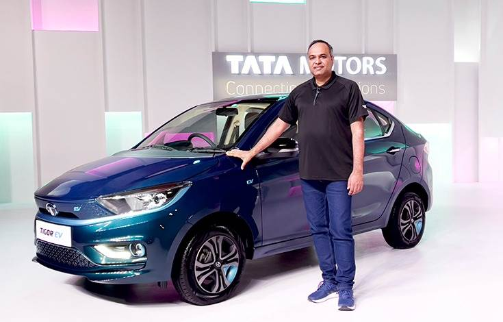 """Shailesh Chandra: """"The Tigor EV is a perfect option for all aspiring sedan buyers looking to own a vehicle that is technologically advanced, comfortable and high on safety standards."""""""