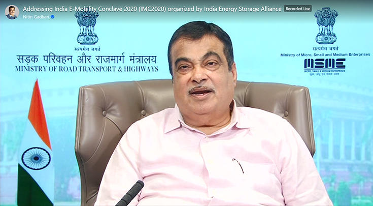 "Nitin Gadkari: ""There is a strong need to develop an import substituting, cost-effective, indigenous and pollution-free sustainable transportation system. Like public transport using electricity."""