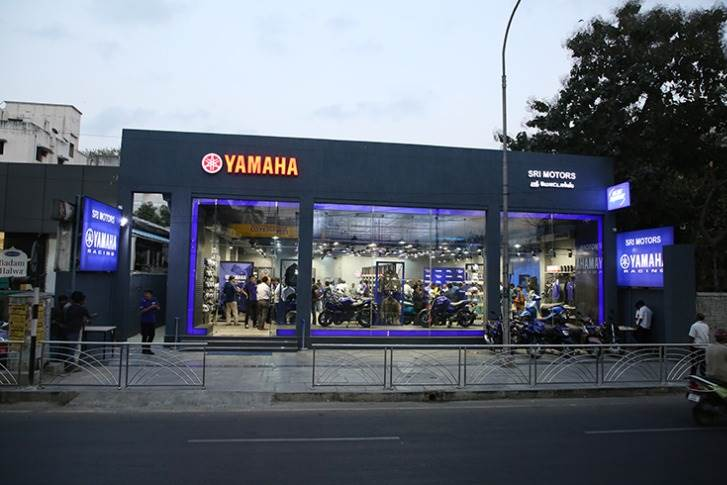 A Blue Square outlet in Chennai. Yamaha plans to launch 100 such outlets across the country in 2020.