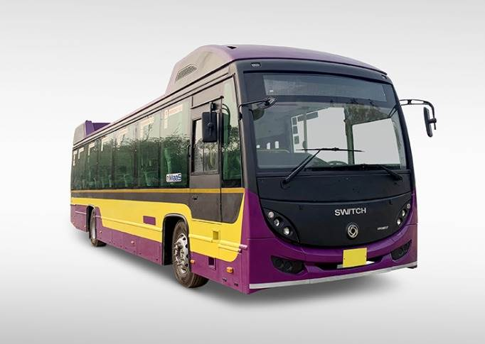 12-metre sibling  (40-45 seats) can cover 200–300km in a day. The modular buses can be fitted with an exact number of battery packs to suit needs.