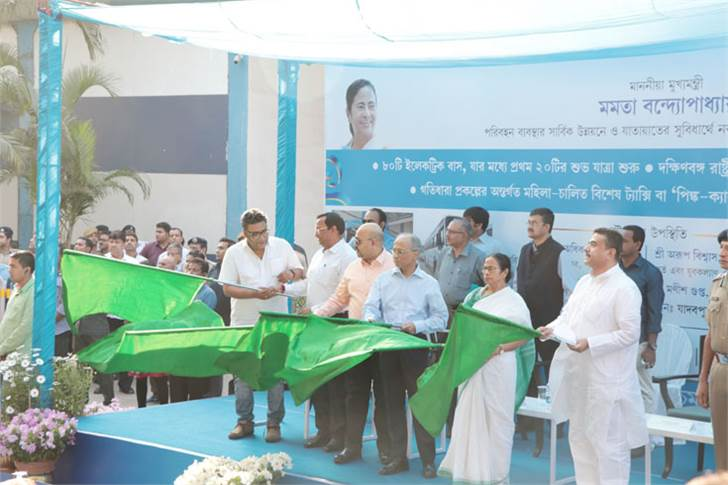 Chief minister Mamta Banerjee flags off Tata Motors
