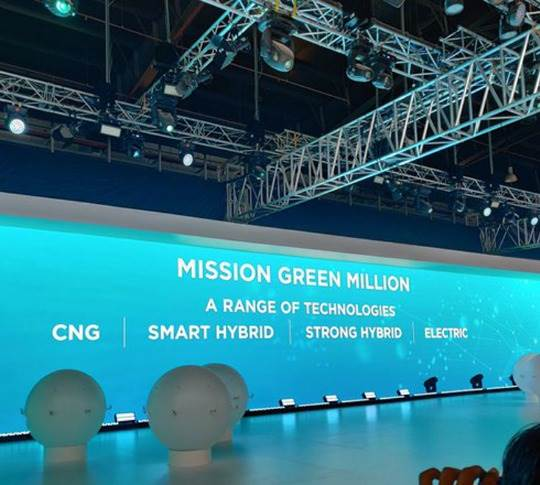 Maruti Suzuki, which is existing the diesel segment in April 2020, is targeting sale of a million eco-friendly cars using CNG, hybrid and electric power over the next couple of years.