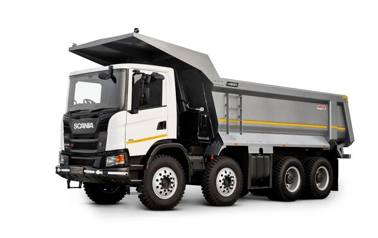 The Scania NTG U-body tipper. The Swedish major plans to launch an NTG for the long-haulage business.