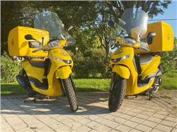 The 125cc Peugeot Tweet Pro 125cc comes with a reinforced chassis, higher capacity fuel tank and a grill to support a load of up to 60 kilos.