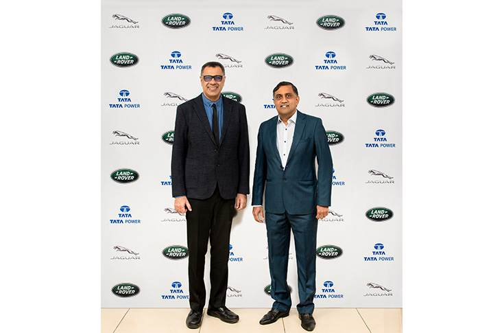 L-R: Rohit Suri, president and MD, JLR India and Ramesh Subramanyam CFO and president - New Business, Tata Power