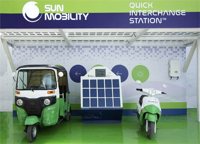 Sun Mobility, which is advocating speedy battery swapping tech for the Indian e-mobility industry, has what it claims to be the world's first interoperable battery swapping station for 2- & 3-wheelers