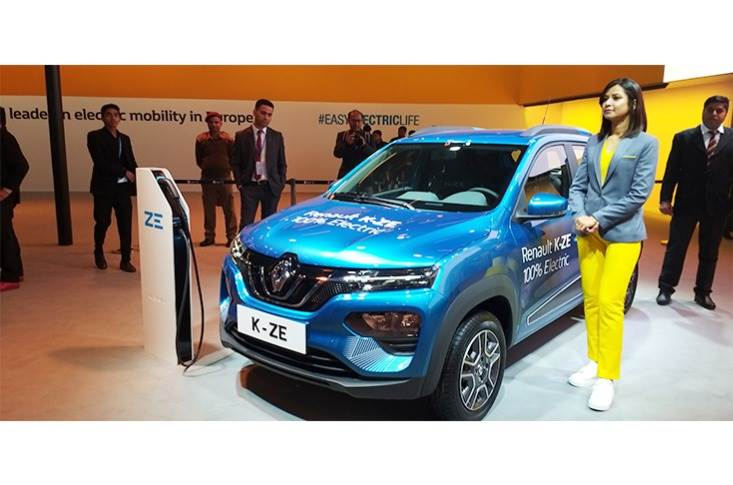 The K-ZE is based on the Renault Kwid hatchback, which uses the CMF-A platform.