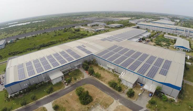 Tata Motors' Sanand Plant increased its renewable energy consumption to 37 percent in FY2019.