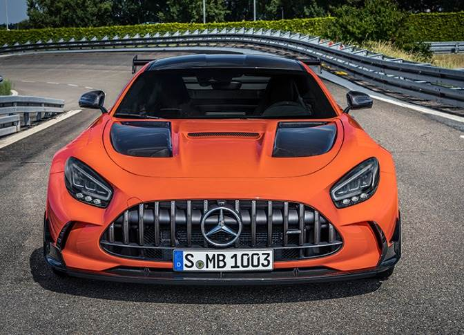 The street-legal Mercedes-AMG GT Black Series generates 537 kW and 800 Nm maximum torque, accelerates from zero to 100kph in 3.2 seconds and has a top whack of 325kph.