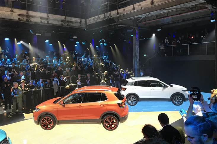 2018 VW T-Cross at its unveiling