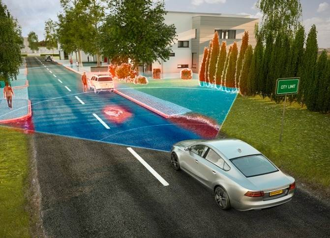 Long-range radar covers predictive applications for NCAP requirements up to automated driving functions.