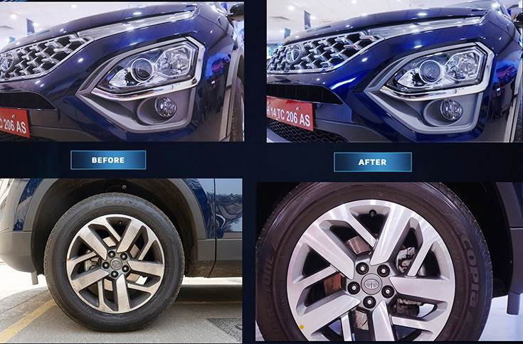 Tata Motors says that the ceramic treatment on offer will bind strong crystal-like layers of chemical to the car's paint surface, therefore, reducing paint fading possibilities.