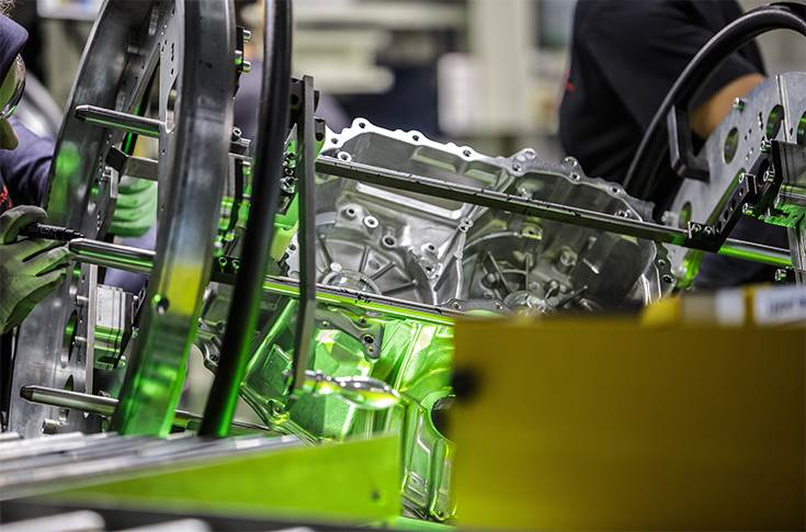 Toyota has begun production of hybrid electric transaxles at its Walbrzych plant.
