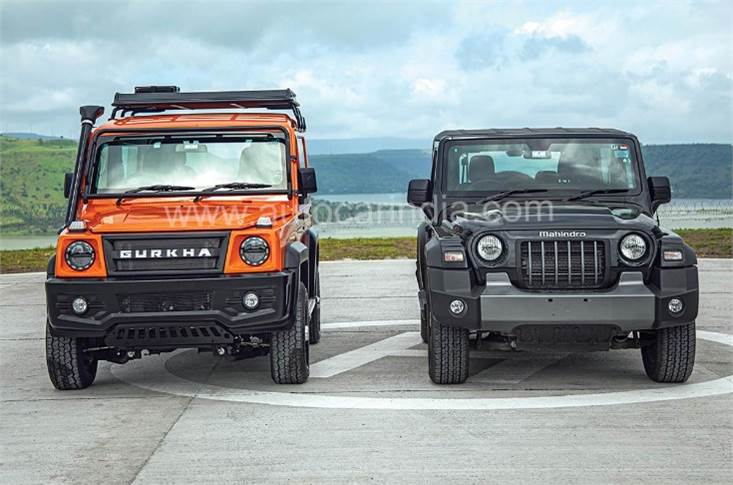 The new Gurkha will go up against the second-generation Mahindra Thar in the Indian market.