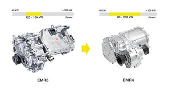 The EMR4 delivers significantly greater power scaling between 80 kW and 230 kW.
