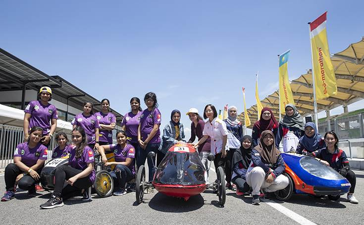 Teams Panthera, No.  314, from Indira Gandhi Delhi Technical University for Women, India, and Al-Faisal University Team, No. 31, from Alfaisal University, Saudi Arabia, and Team Politeknik Brunei SSE.