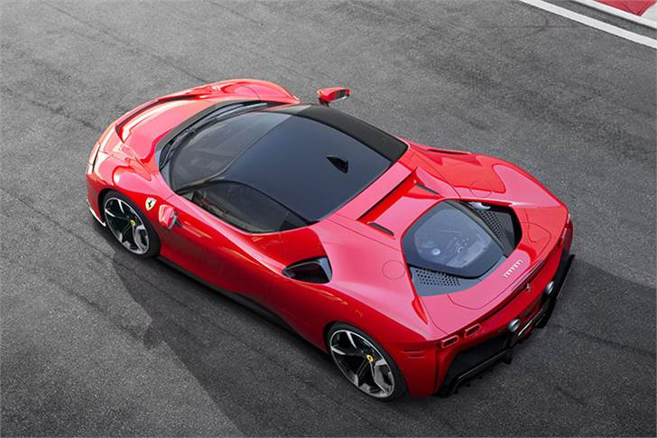 The heart of the car is Ferrari's award-winning 'F154' twin-turbocharged V8, bored out from the 3902cc of the 488 Pista to 3990cc.
