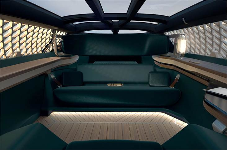 The interior of the EZ-Ultimo concept
